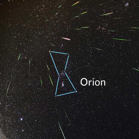 Diagram of Orion constellation