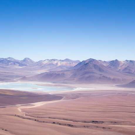 View of Chile's Atacama Desert and mountains