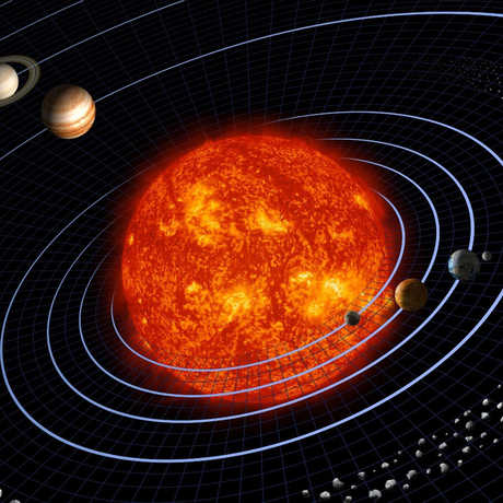 Illustration of our solar system