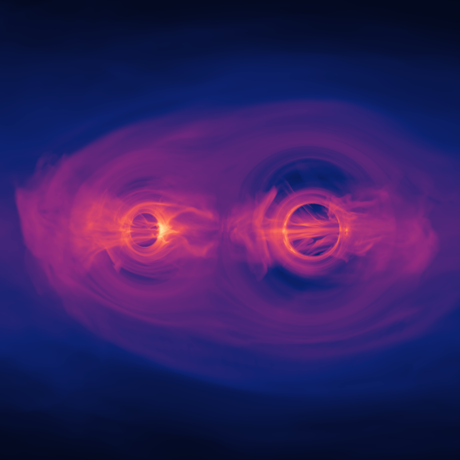 Two merging black holes