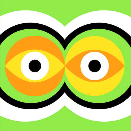 Graphic concentric circles design with green background