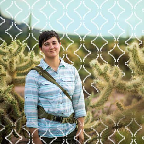 Lauren Esposito standing in the field