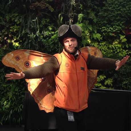 Program Presenter wearing a butterfly costume