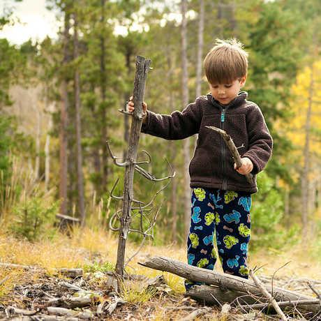 Photo of children in woods