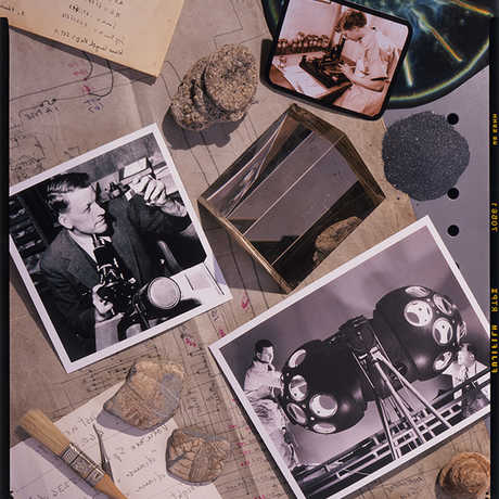 Image of photographs on a desk