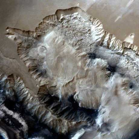 Ophir Chasma, Mars image from MOM