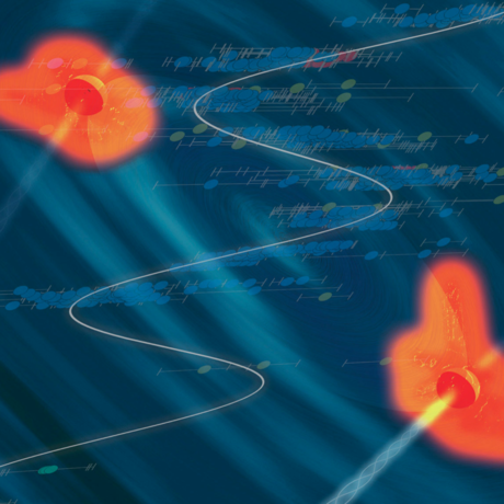 Two black holes about to merge?