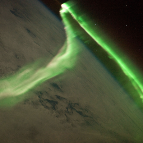 Aurora on May 24, 2010. Taken from the ISS.