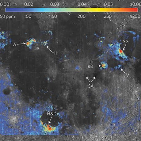 Lunar mapping - water