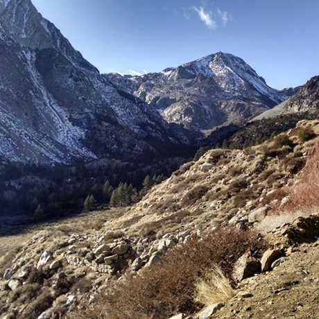 A snowless Tioga Pass in the 2015 drought, Bartshé Miller