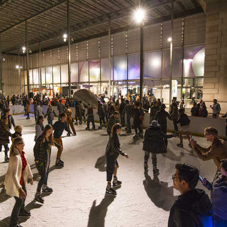 Ice rink at night