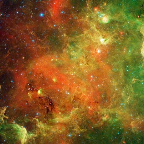 The North America Nebula as seen in infrared light.