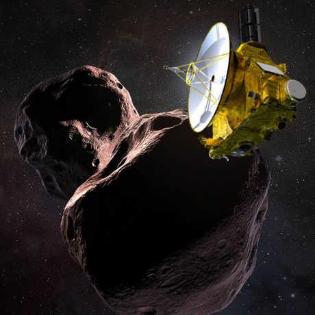 Artist rendering of New Horizons spacecraft