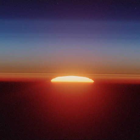 Photo of a vibrant sunrise