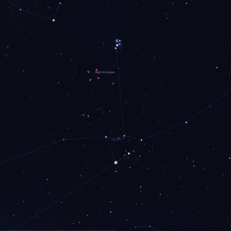 Location of Comet 46P/Wirtanen