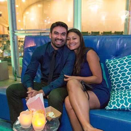 A couple enjoying the VIP area at Party After Dark