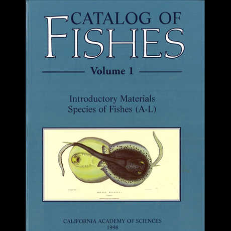 Picture of the Catalog of Fishes volume 1