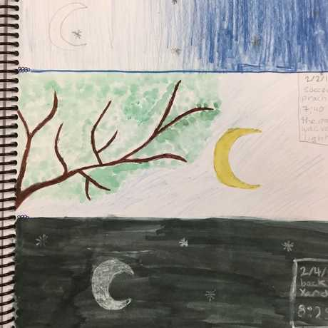 Artistic moon journal