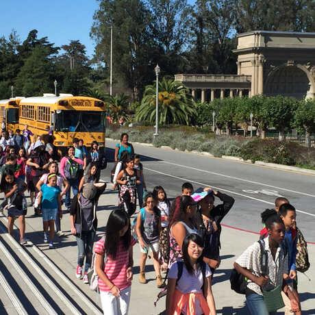 Field trip students