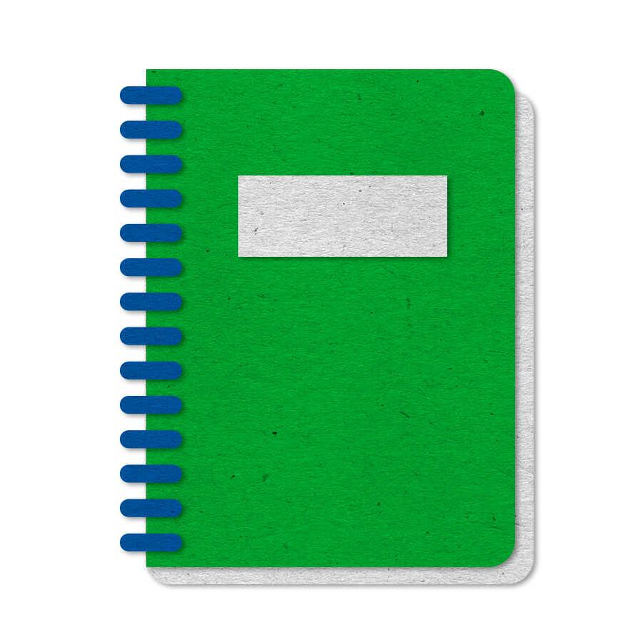 Green felt notebook resource icon