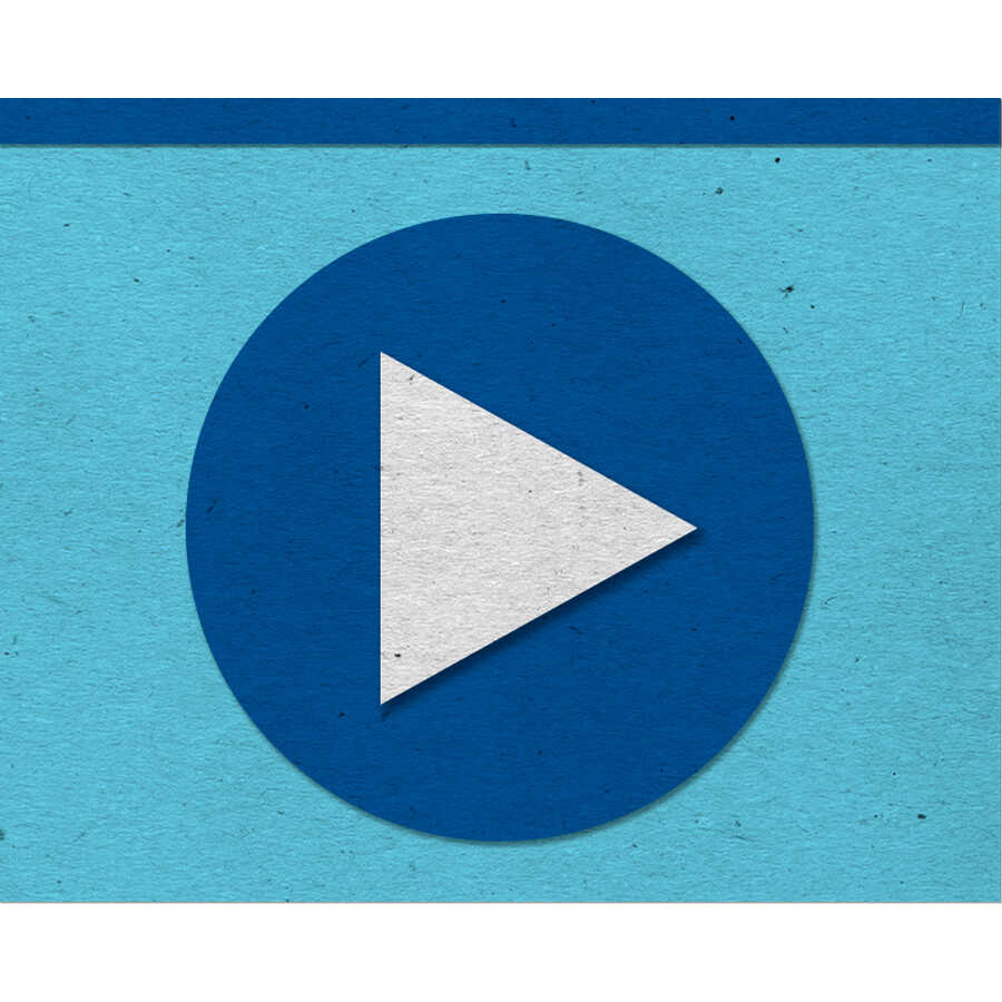 Felt video play button icon