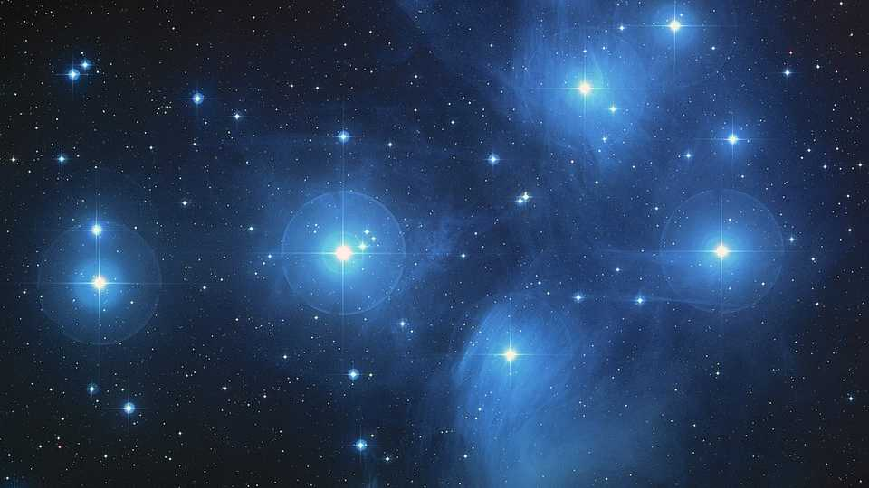 Young stars of the Pleiades cluster in Taurus