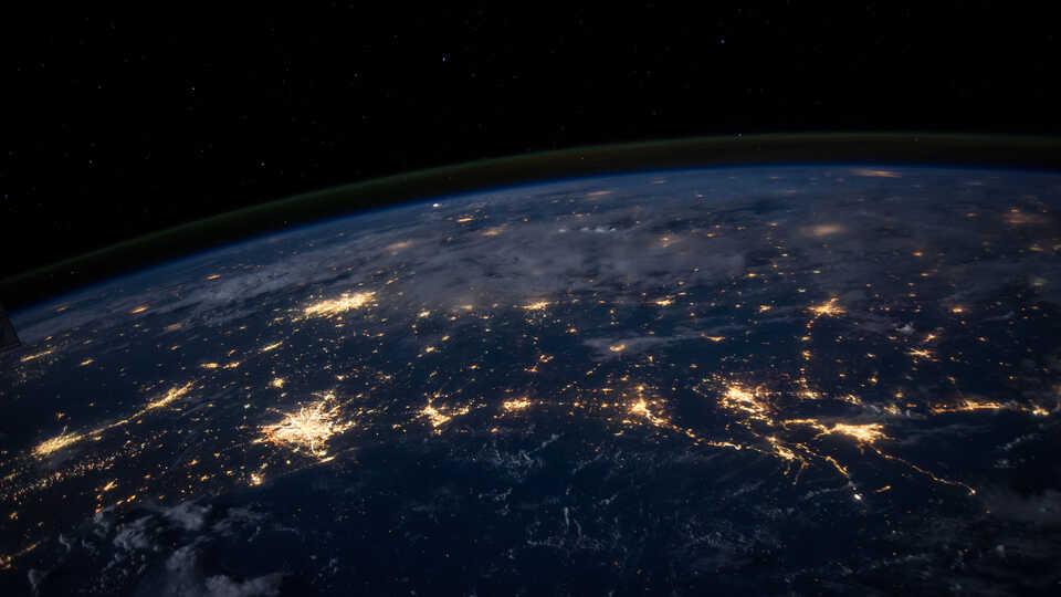 Gulf Coast at Night, NASA's Marshall Space Flight Center
