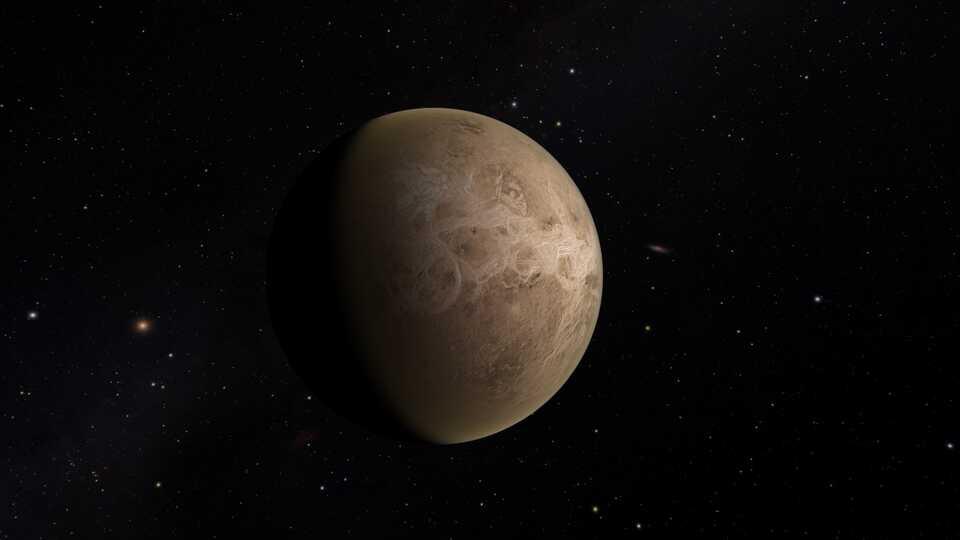 A close-up of the planet Venus.