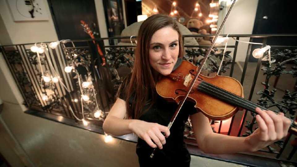 The musical maestra, Ashley Holmberg