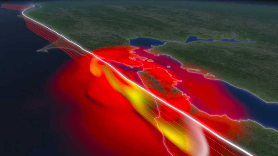 Data-based simulation of seismic waves from the 1906 San Francisco earthquake.