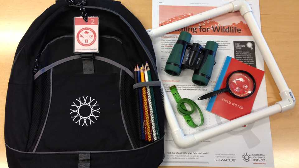 Junior Scientist Adventure backpack and tools