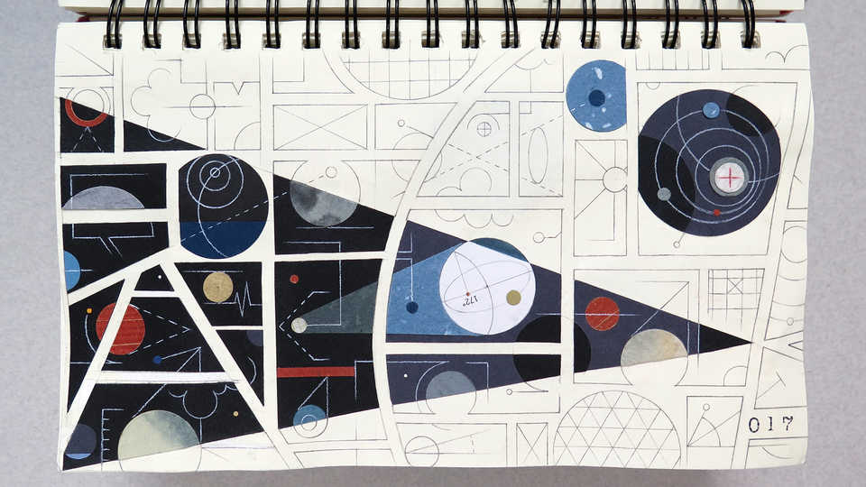 LV Sketchbook Page 017 (Invisible Universe)