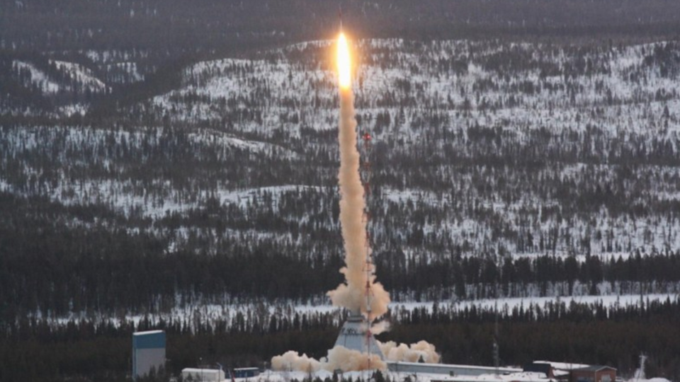 The rocket TEXUS-49 carrying DNA to space