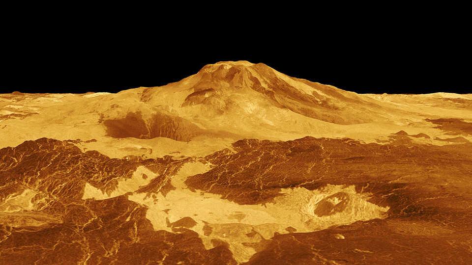 Maat Mons Volcano on Venus